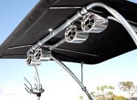 Eclipse Wakeboard Tower Bimini - Sunbrella Cadet Grey