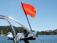 "Aerial Adjustable Wakeboard Tower Flag Holder - 2.25"" to 2.5"" - Polished Aluminum"