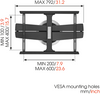 Vogel's Next 7345 Turn 120 OLED/LED Wall Design Mount 40 - 65""