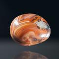 """Striking Madagascar Banded Agate, 1.86""""x1.5"""", 87.5g- rear side with druzy quartz"""