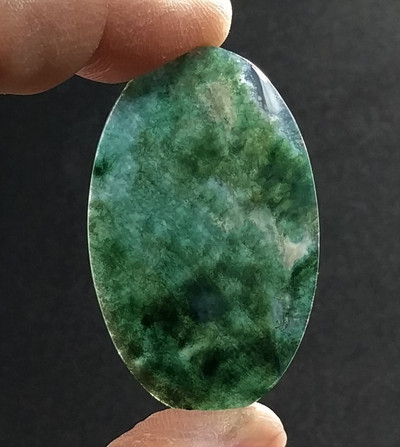 African Green Moss Agate Cabochon