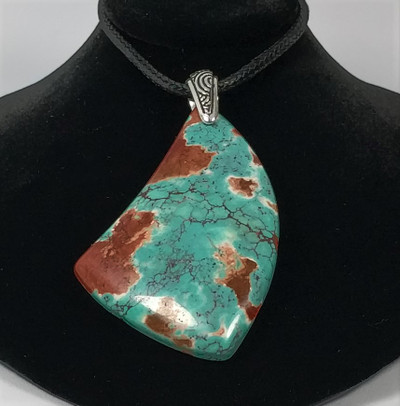 Multicolor Turquoise (Ox Horn) Pendant