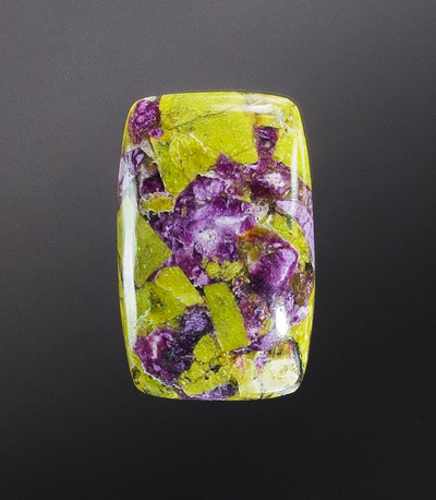 Spectactular Stichtite & Green Serpentine Cabochon, 31x20x6mm, 24.3 cts