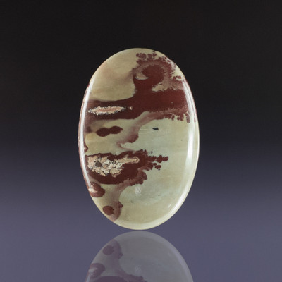 Striking Flower Jasper Cabochon, 45x30x6mm, 70.8 cts (NF1167)