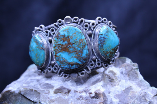 Sterling Silver Royston Turquoise Cuff Bracelet SS15778