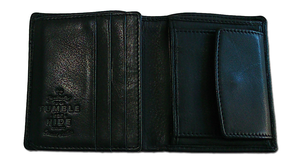 Newton Black Leather Abridged Wallet