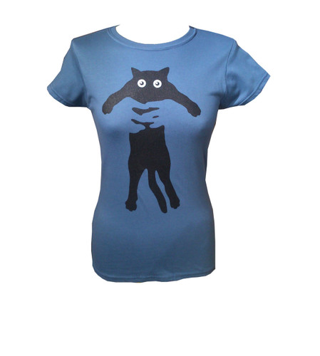 flat cat t shirt designed by rupert bottenberg