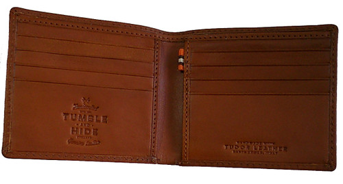tumble and hide tan  leather wallet