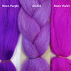 Color comparison from left to right: Neon Purple, Orchid, Neon Violet