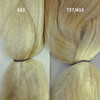 613 Platinum Blond on the left and T27/613 Mixed Blond with Platinum Tips on the right