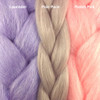 Color comparison from left to right: Lavender, Pale Puce, Pastel Pink