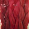 Color comparison from left to right: Dark Cherry Red, Crimson, Brick