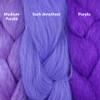 Color comparison from left to right: Medium Purple, Dark Amethyst, Purple