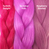 Color comparison from left to right: Turkish Delight, Summer Pink, Raspberry Sherbet