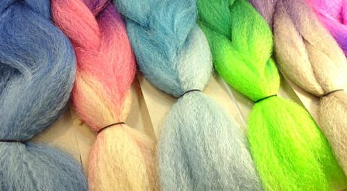 New Multicolored Kanekalon Highlight Braid by RastAfri