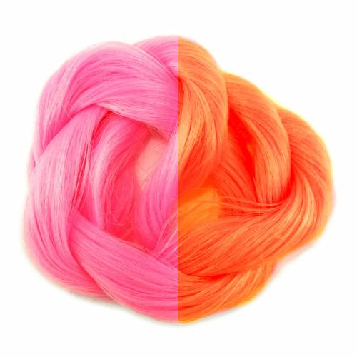 Pink/Orange thermal color change hair extensions