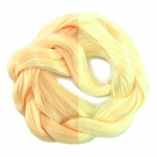 Peach/Yellow thermal color change hair extensions