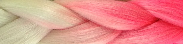 Light Blond with Neon Pink Tips