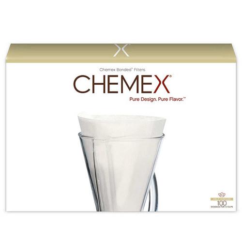 Chemex Unfolded Half Moon Filters Visions Espresso Service Inc