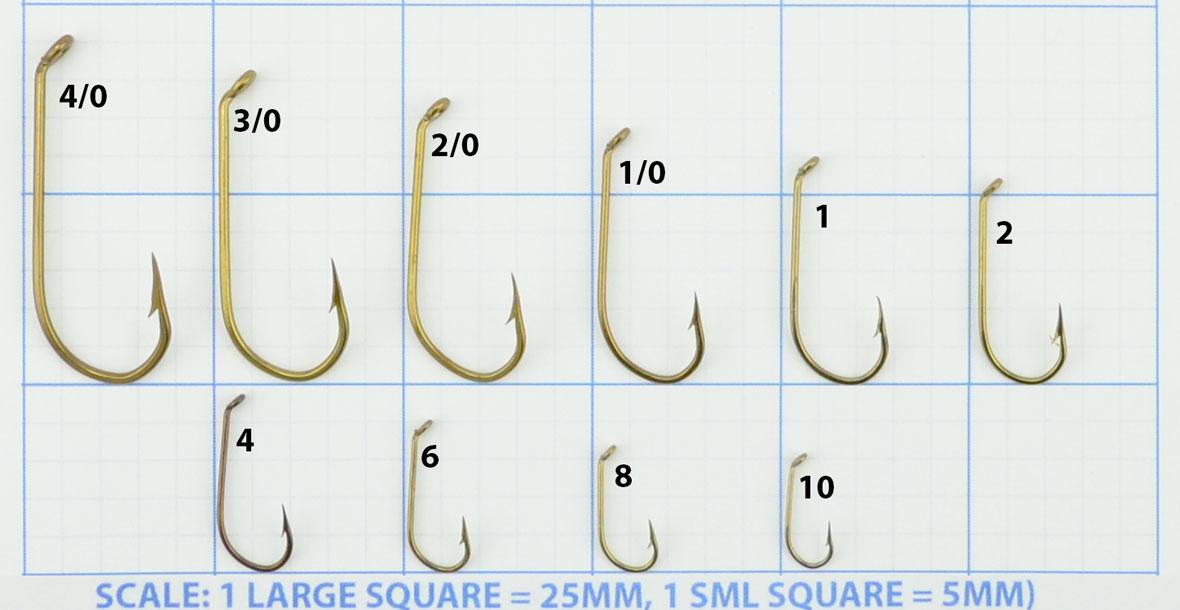 Mustad 540 Hook Size Chart