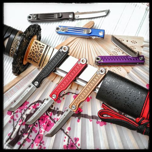 Pocket Samurai Keychain Knife (Aluminum Edition)