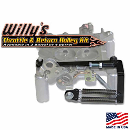 Willy's Throttle & Return Holley Kit - 4-Barrel WCD-250