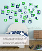 3-Color Funky Square Wall Vinyl Stickers Shapes