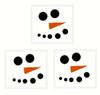 Snowman Face (Dots for Eyes, Mouth and Carrot Nose) Winter Wall Decal Art