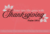 Enter His Gates with Thanksgiving Vinyl Letters Wall Decals Fall Decor