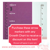Arrow Age Markers Add-on To Track Growth on Ruler Charts Vinyl Wall Decal - Purchase with a growth chart for a discount on this item!