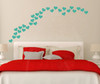 2 inch Heart Shapes 28 pc Turquoise Wall Decal Stickers Shapes - Easy peel n stick application