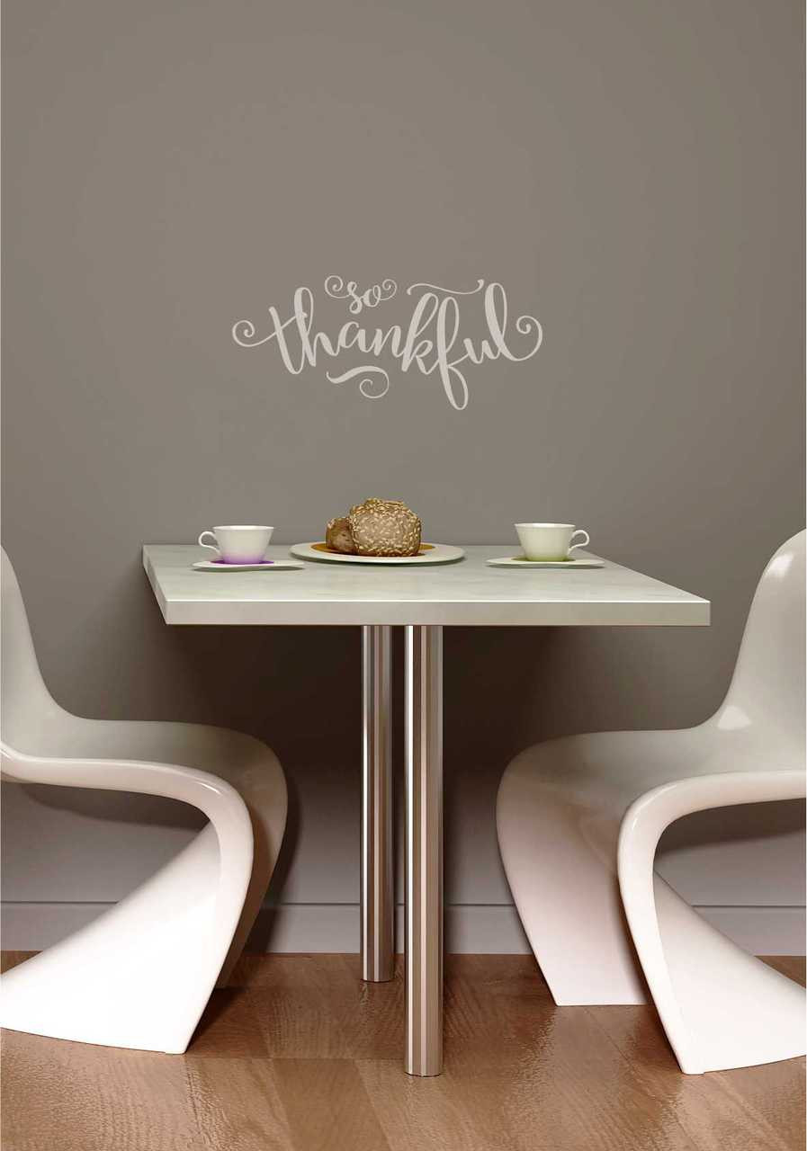 So Thankful Elegant Vinyl Wall Decals Lettering For The Home