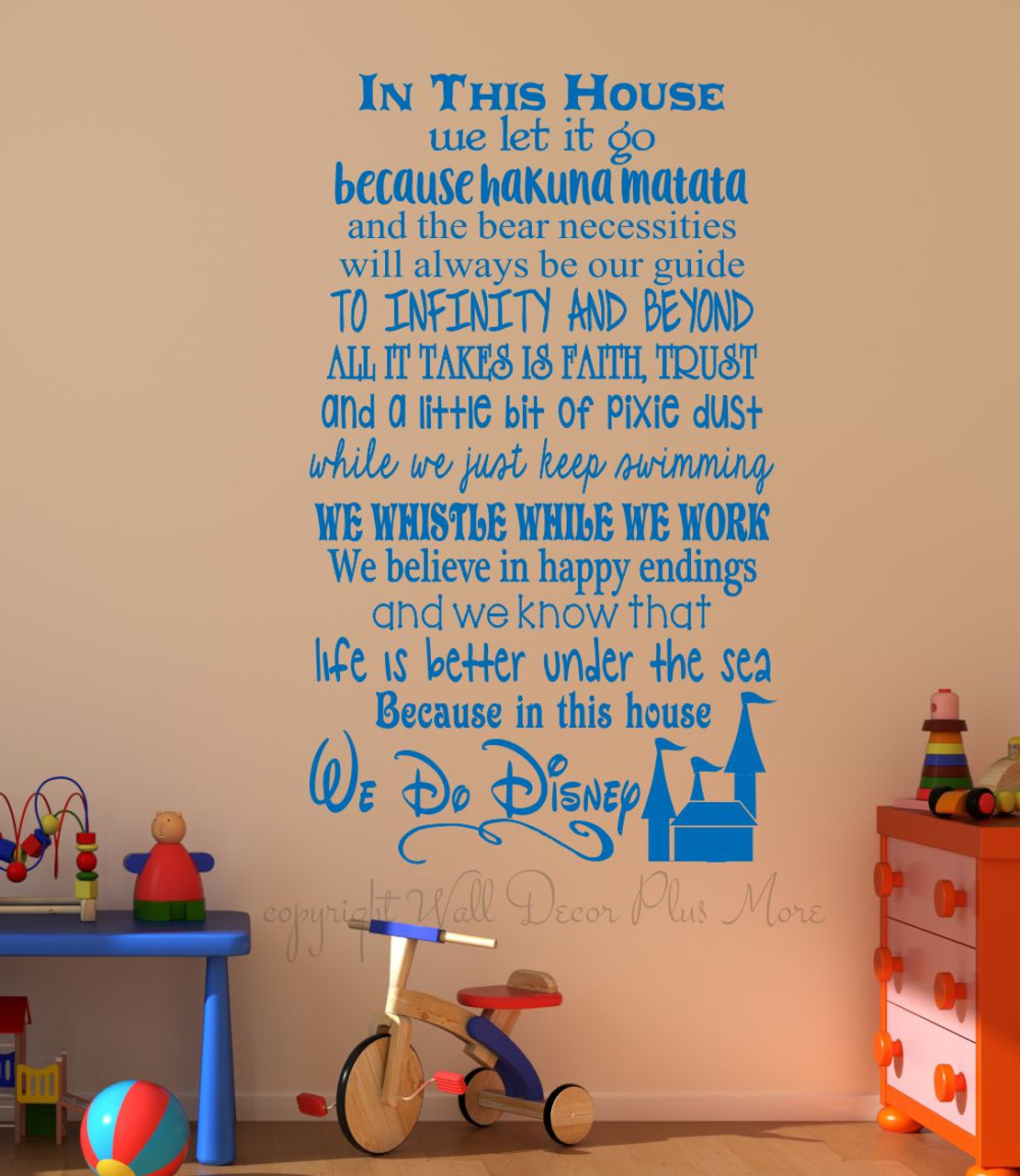 In This House.... We Do Disney, Wall Decals Letters for ...