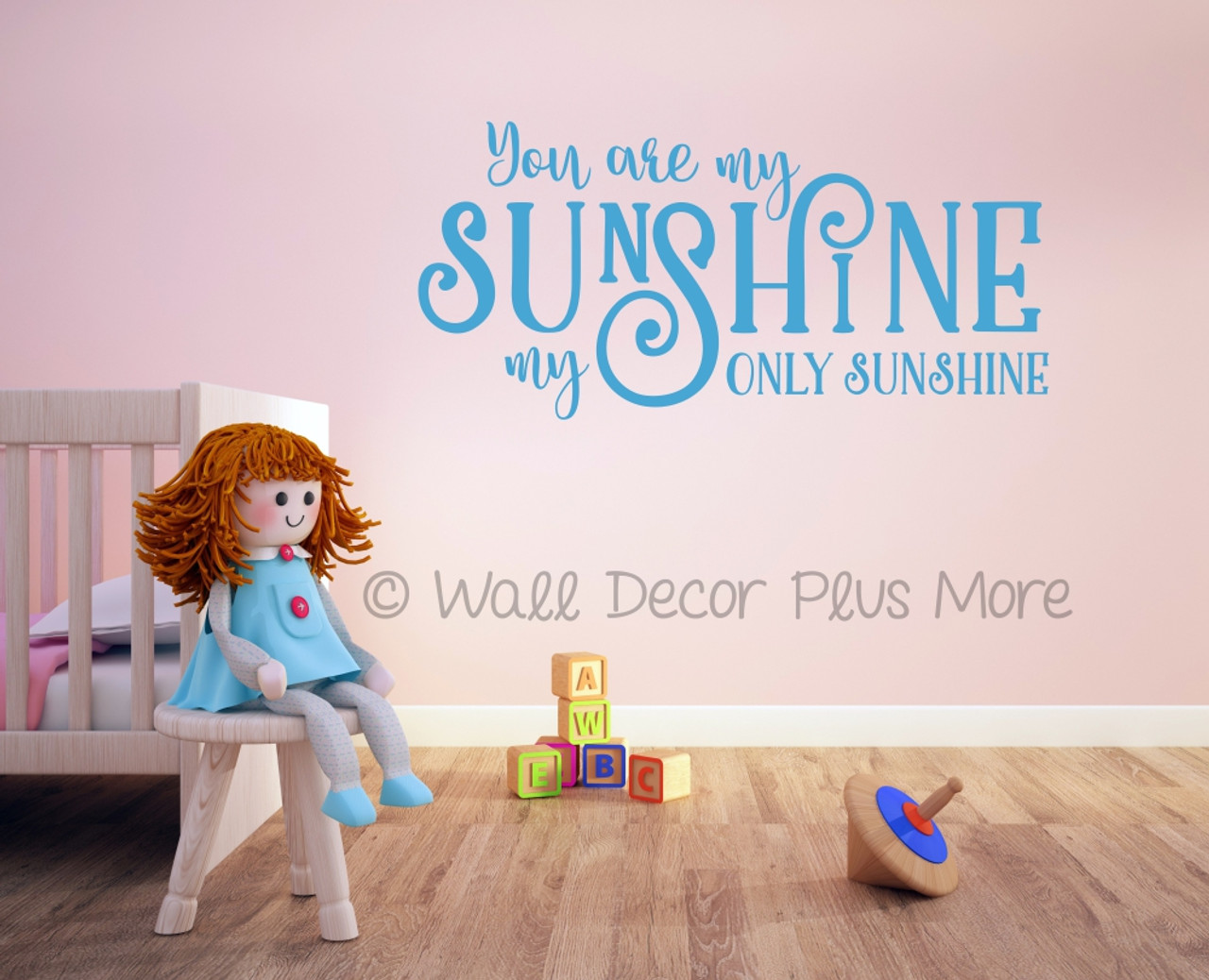 You Are My Only Sunshine Love Quotes Wall Decals Stickers Geyser Blue