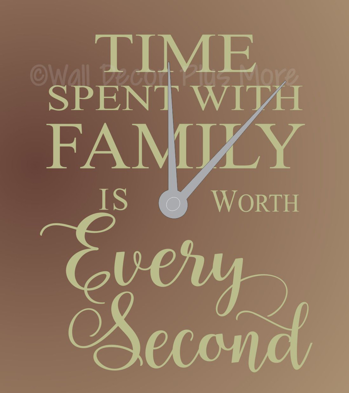 Time Spent With Family Worth Every Second Wall Letters For