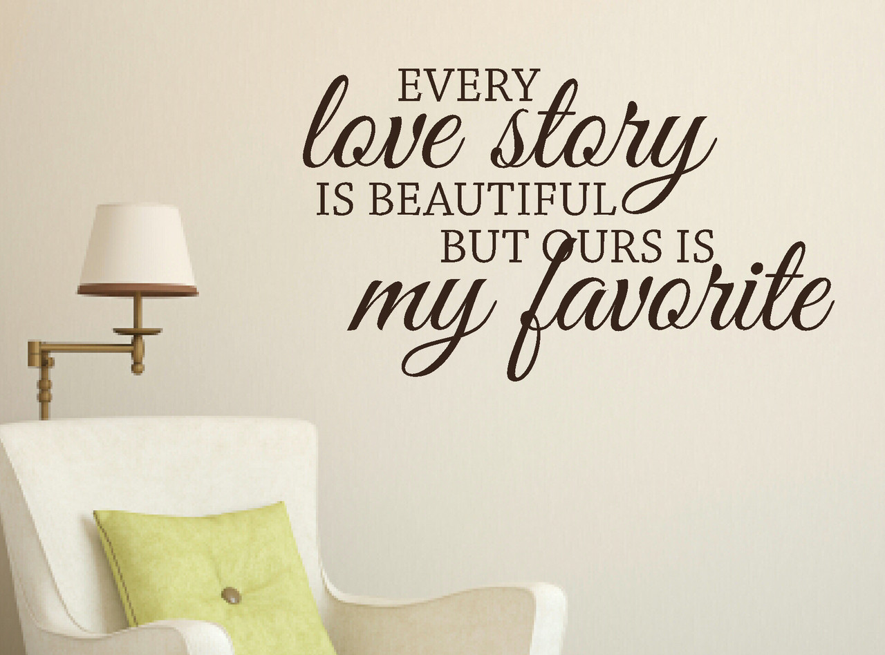 Bedroom Wall Words Wall Sticker Decals