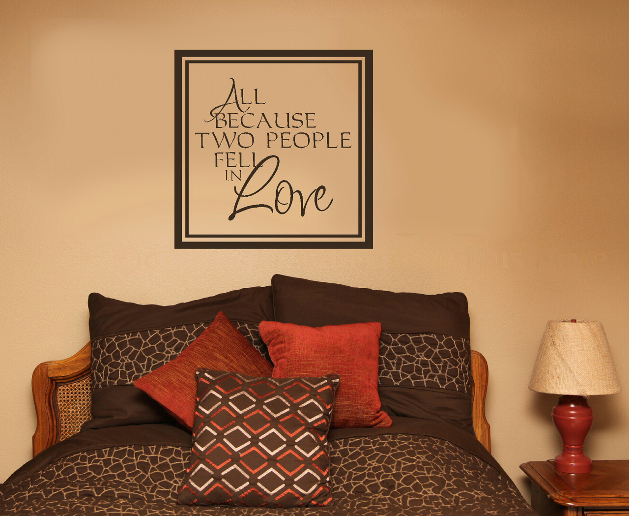 All Because Two People Fell In Love Quotes Wall Sticker