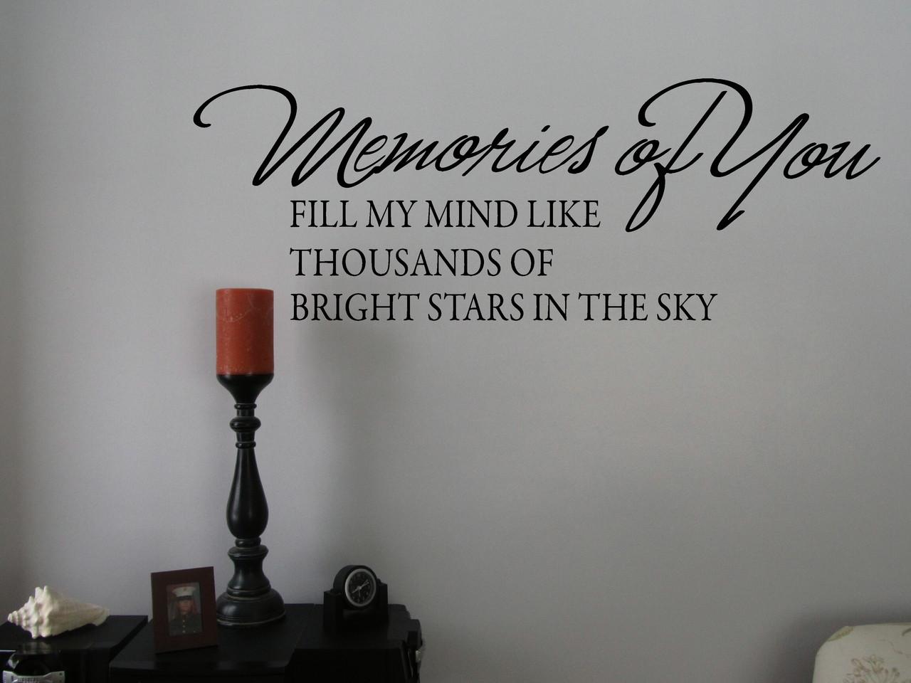 Memories of You Memory Wall Decal