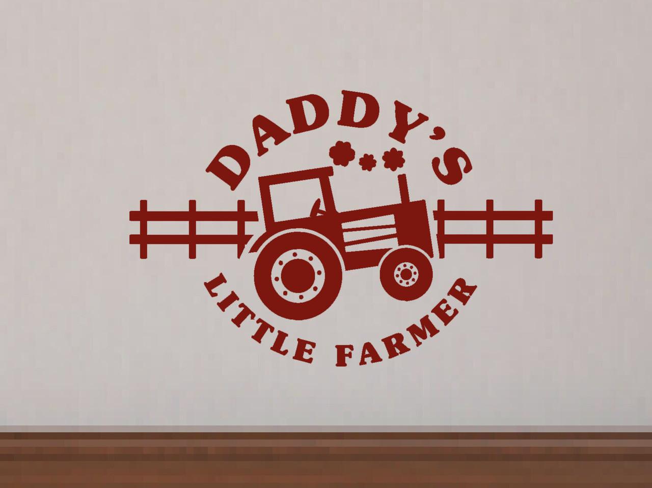Daddys Little Farmer Boys Wall Decals Stickers Farm Wall Dcor