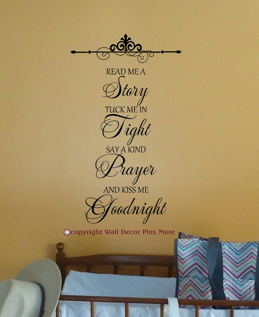 Read Me A Story...Kiss Me Goodnight Wall Decal Stickers Letters for ...