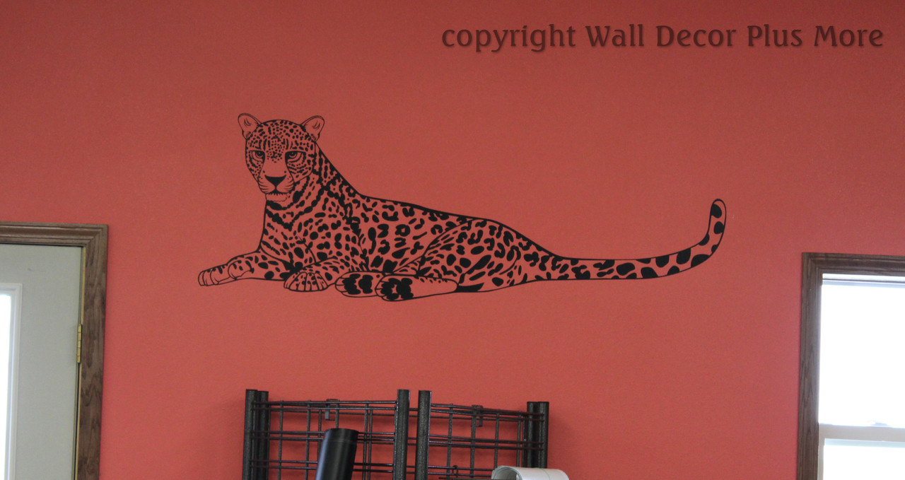 Large Jungle Animal Cheetah Vinyl Wall Decal Stickers Wall Art For