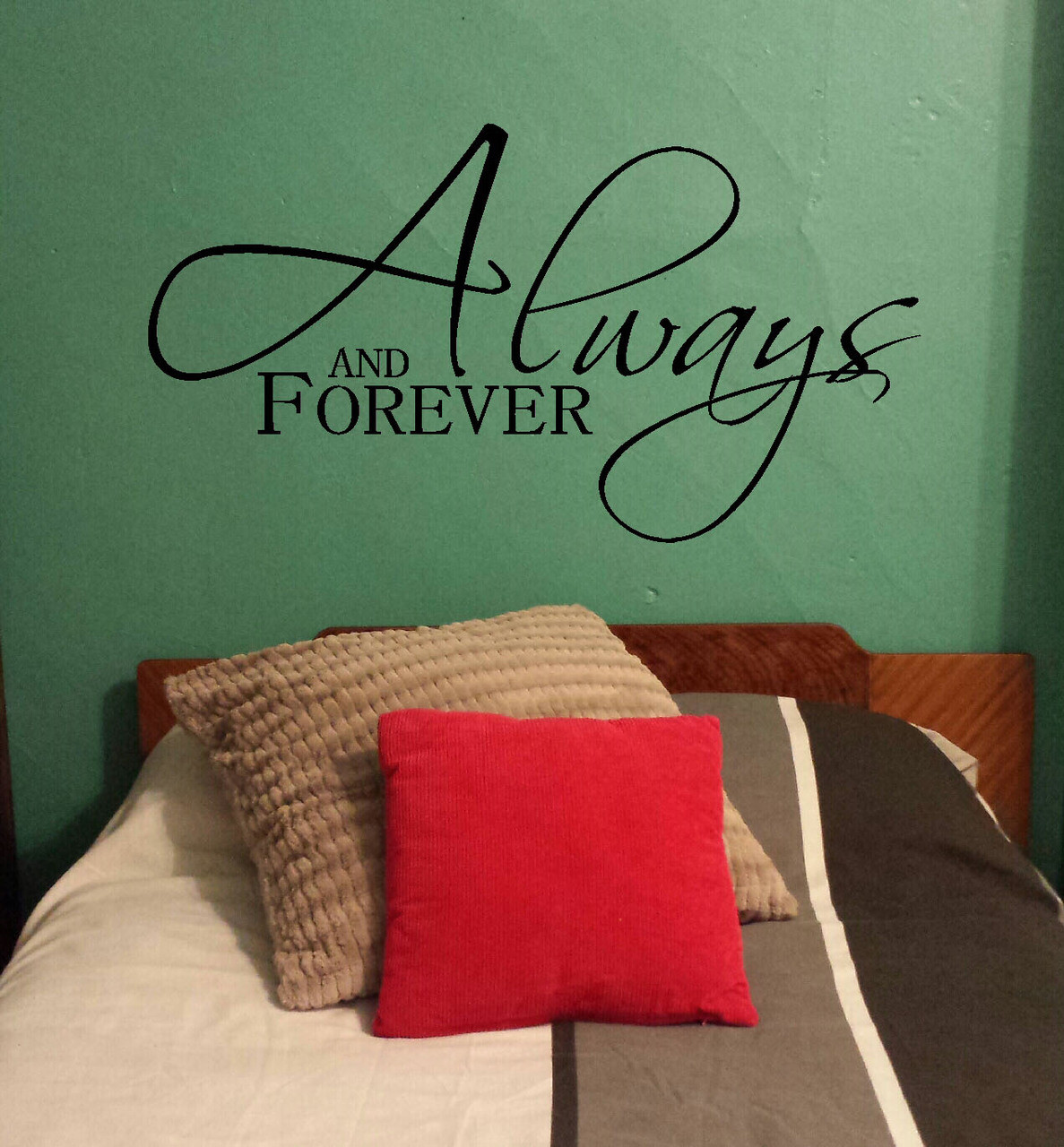 Always And Forever Master Bedroom Love Wall Decal Stickers Vinyl