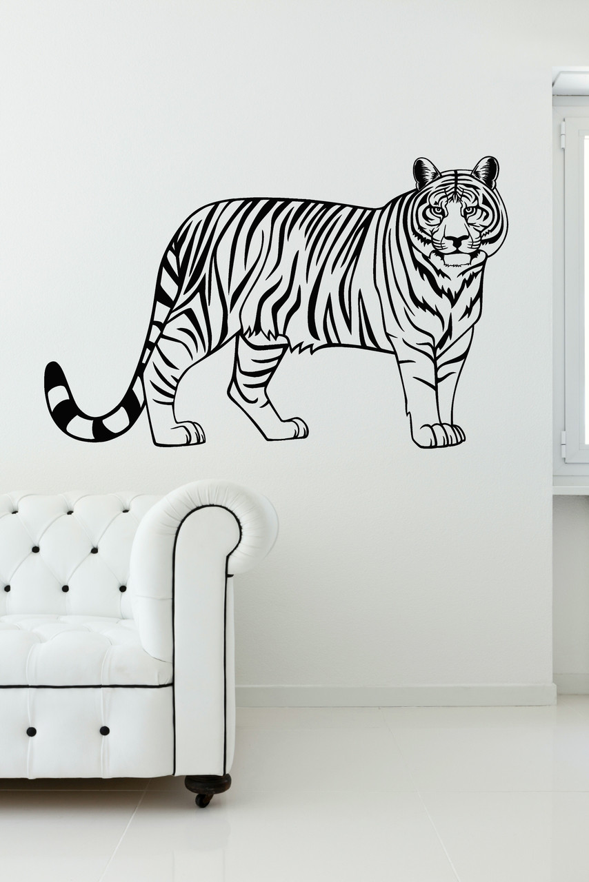 Tiger Jungle Animal Vinyl Wall Art Wall Decal Stickers For Home