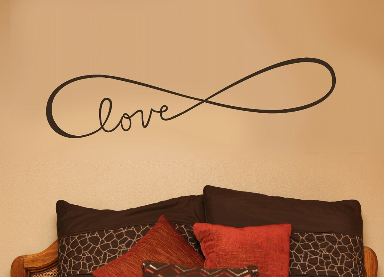 Infinity Love Wall Decals Art Vinyl Sticker For Master Bedroom Or