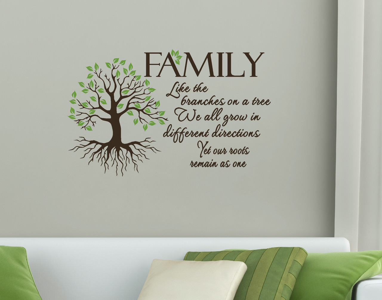 Inspirational Wall Stickers Quotes Family Quote Like Branches On A Tree Wall Art Vinyl Decal