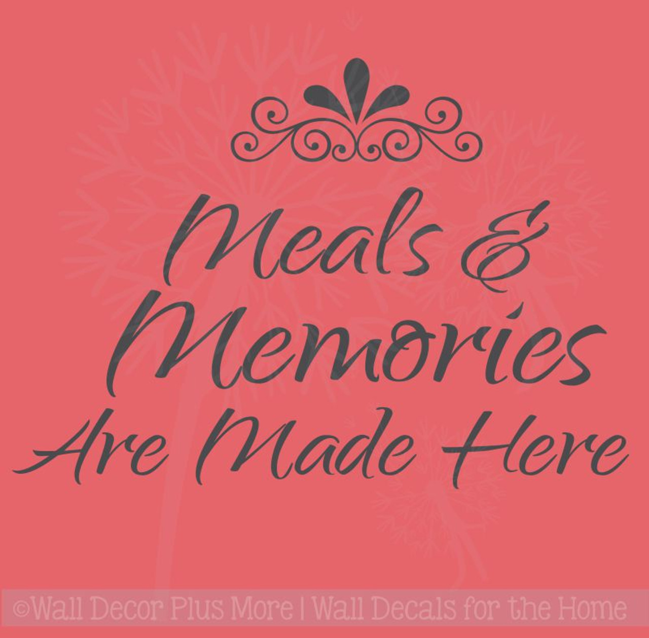 Meals And Memories Made Here Kitchen Wall Decal Stickers Quotes, Wall  Letters