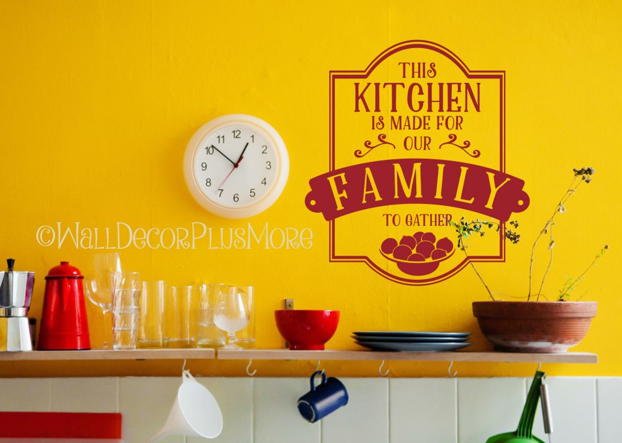 Popular Kitchen Quotes Vinyl Wall Stickers Decal Family To Gather Wall  Lettering
