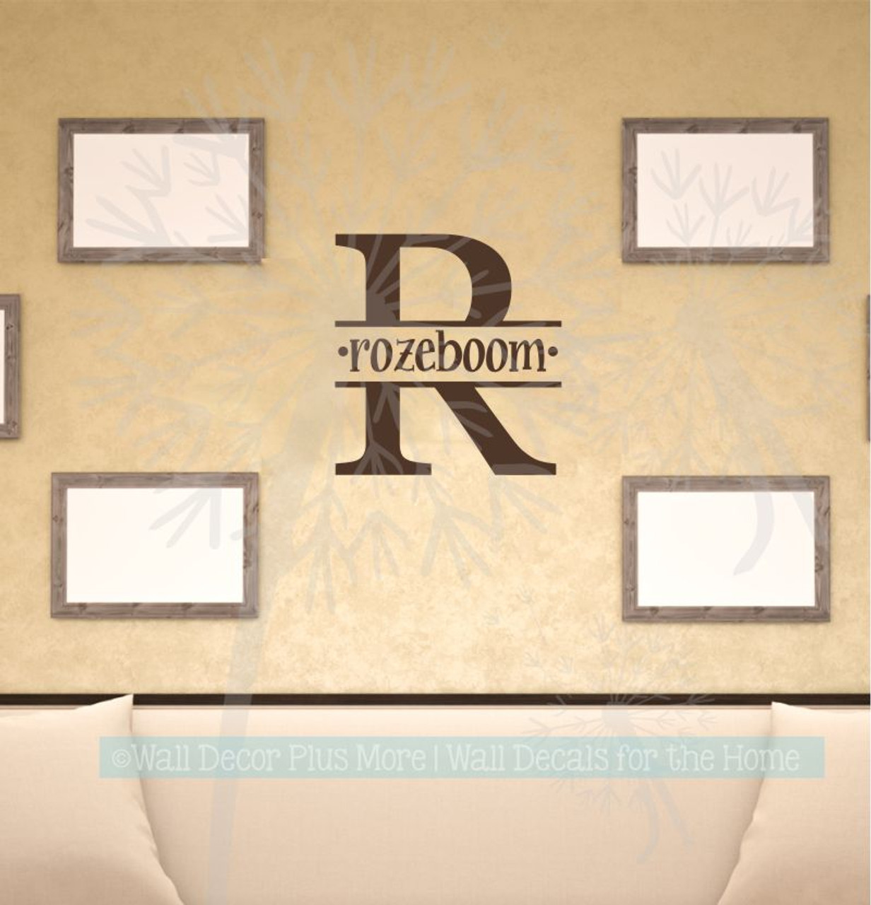Monogram Custom Letter Wall Decal Personalized with Name Vinyl Stickers