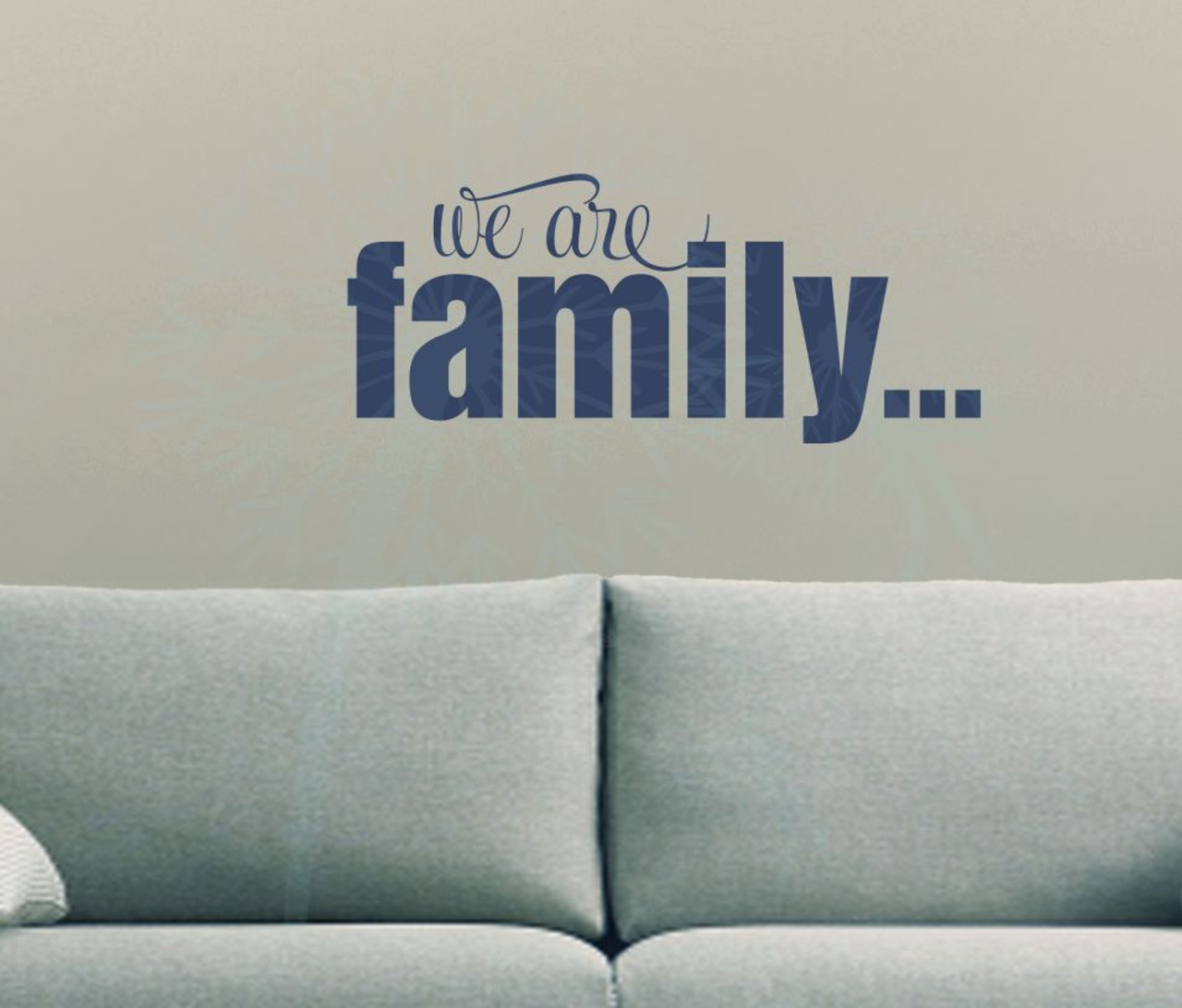 & We are Family Wall Décor Lettering Wall Decal Sticker Quotes