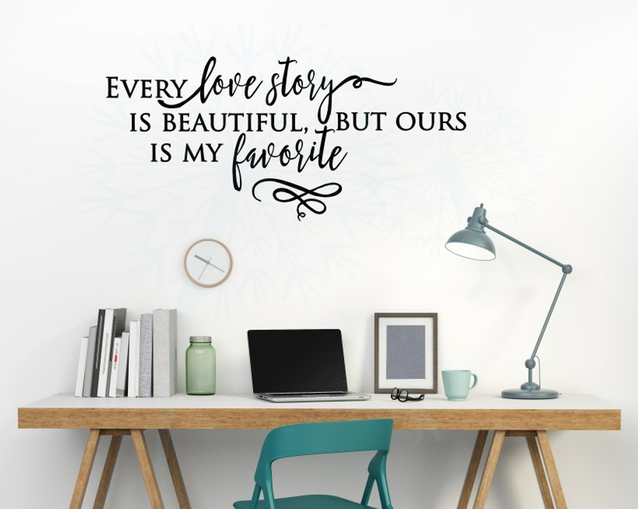 Every Love Story Is Beautiful Vinyl Stickers Wall Decals Lettering
